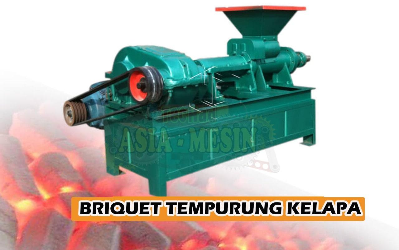 Mesin Cetak Briket Kelapa, Mesin Briquet Tempurung Kelapa