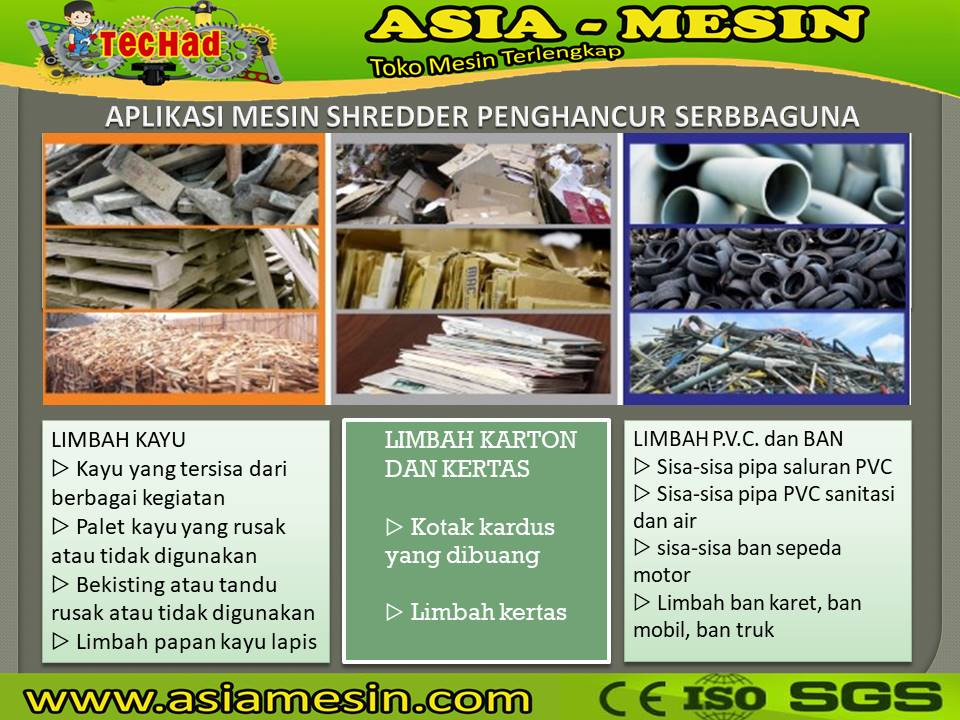 mesin shredder plastik