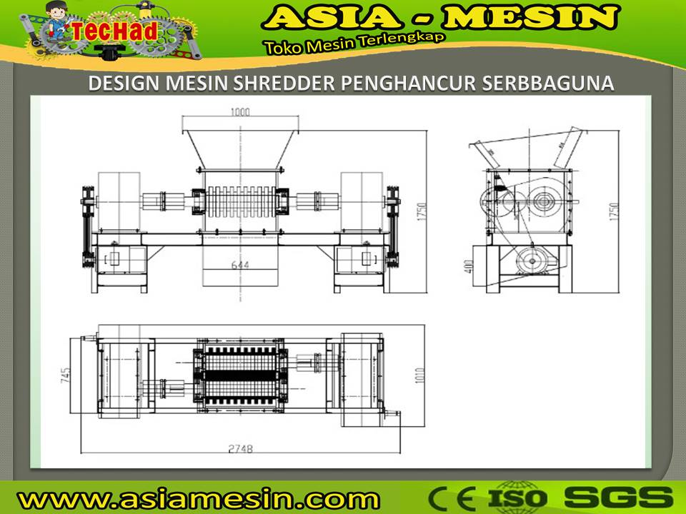 mesin shredder kayu