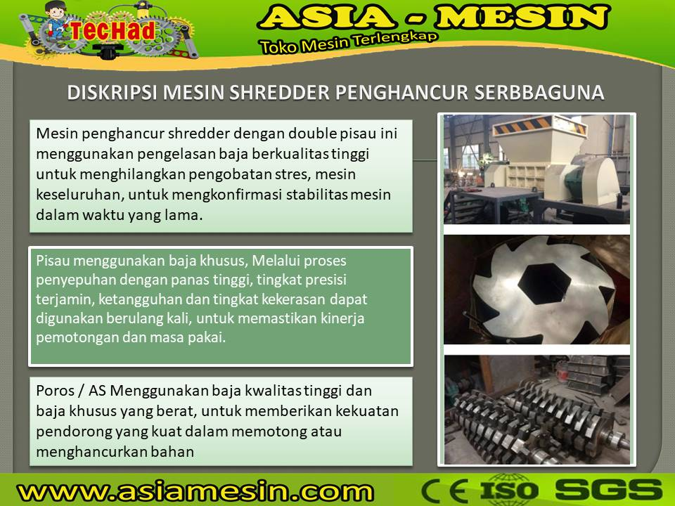 mesin shredder sampah