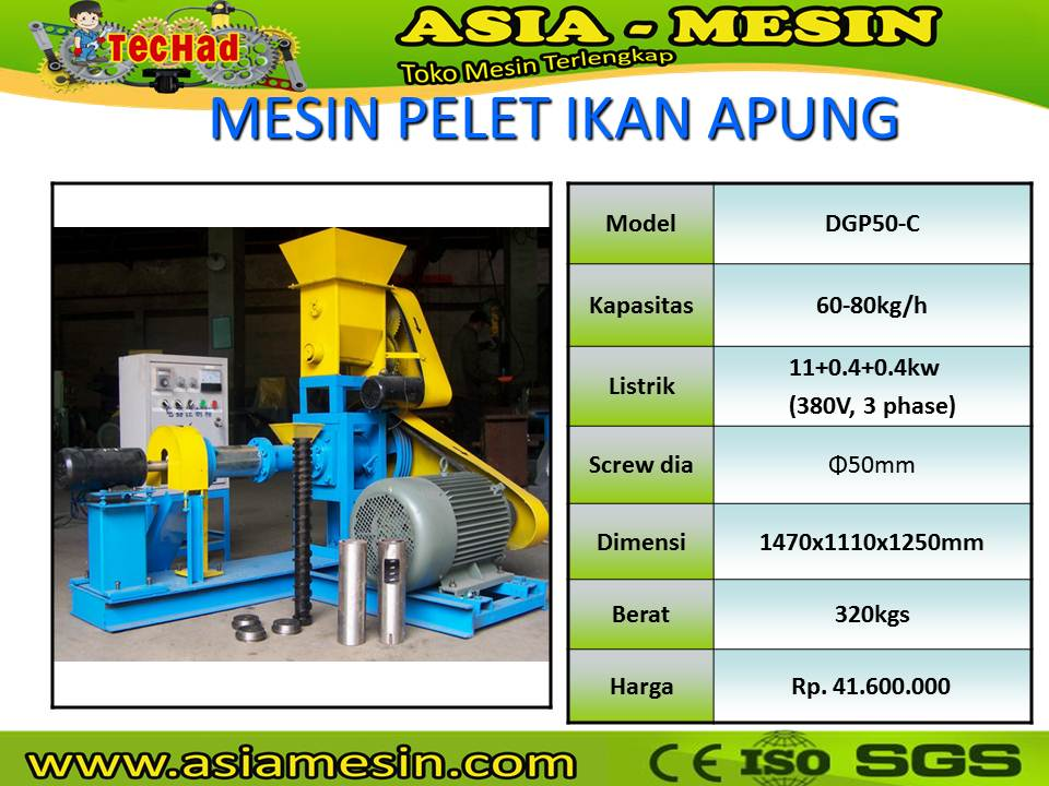 Mesin Extruder Pelet Apung