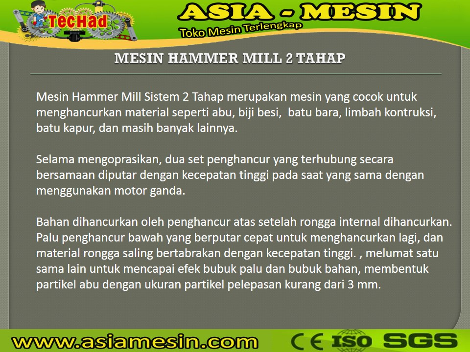 Mesin Hammer Mill Batu