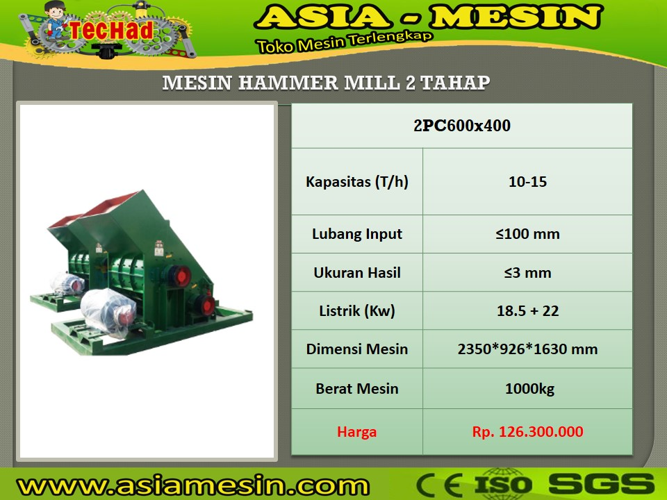 Mesin Hammer Mill Batu